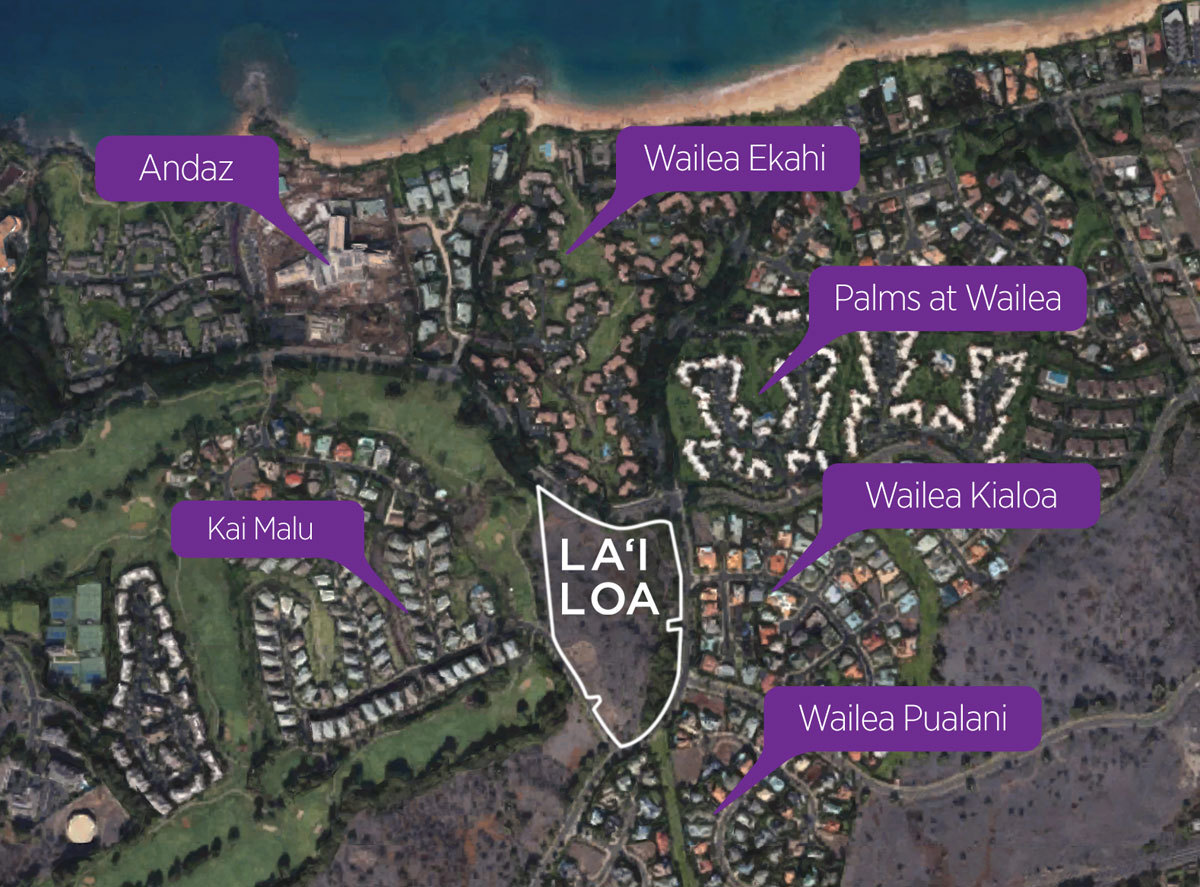 aerial map for Lai Loa
